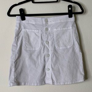 Mother Corduroy Button Up Skirt